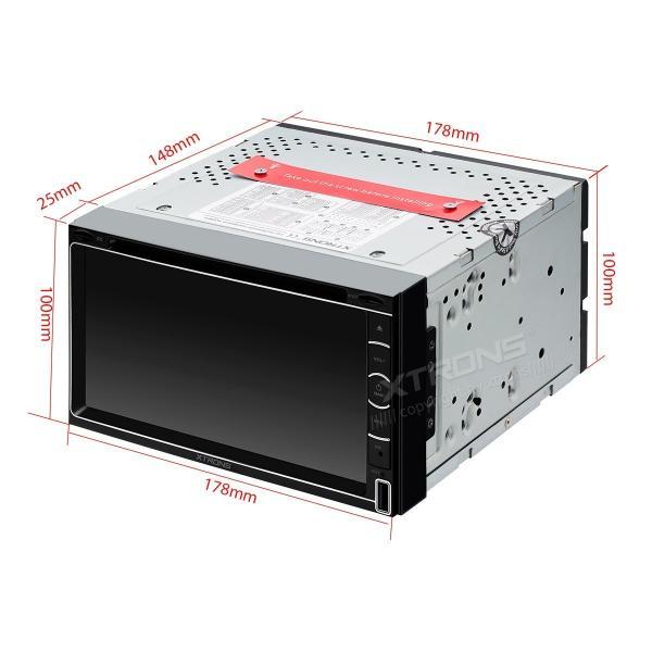 (TD799GISY)XTRONS 6.95インチ 2DIN カーナビ フルセグ 4X4 地デジ搭載 アプリ連動 最新入荷ゼンリン地図付 DVDプレーヤー ブルートゥース GPS FM USB SD|mycarlife-jp|06