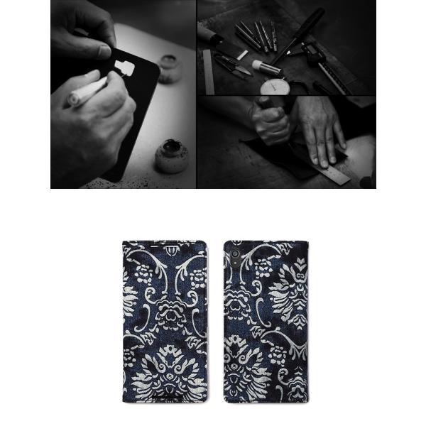 Xperia Z5 Premium ケース 手帳型 ZENUS Denim Baroque Diary(ゼヌスデニムバロックダイアリー)エクスペリア ゼット プレミアム|mycaseshop|04