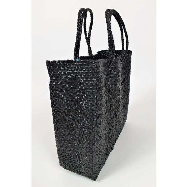 かごバッグ Letra レトラ メルカドバッグ プラスチックトートバッグ Mサイズ ブラック|mycloset-m|02