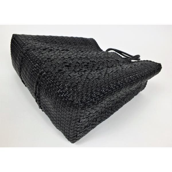 かごバッグ Letra レトラ メルカドバッグ プラスチックトートバッグ Mサイズ ブラック|mycloset-m|03