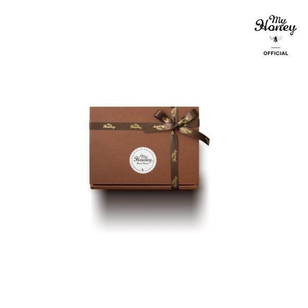 【MYHONEY公式】はちみつ ハチミツ マイハニー プレゼントギフトMYHONEYブラウンギフトボックス×MYHONEYロゴ入りリボン仕様 生はちみつ 贈り物 ギフト