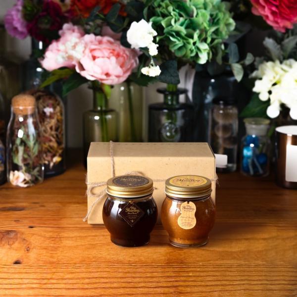 【MYHONEY公式】はちみつ ハチミツ マイハニー ハニーショコラL(200g)+ピーナッツハニーL(200g)/ナチュラルクラフトボックス(M)+麻紐リボン 生はちみつ 贈り物