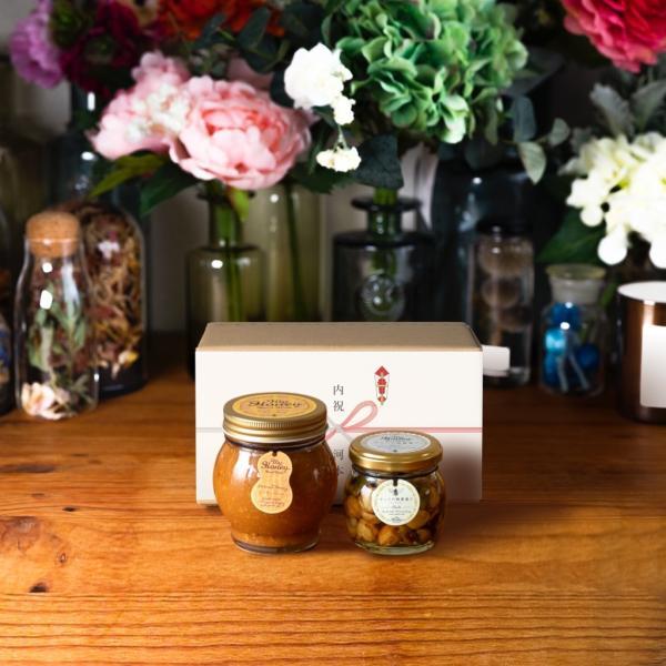 【MYHONEY公式】はちみつ ハチミツ マイハニー ピーナッツハニーL(200g)+ナッツの蜂蜜漬けエトワールM(90g)/ナチュラルクラフトボックス(M)+熨斗 生はちみつ