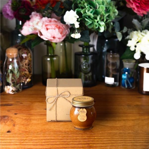 【MYHONEY公式】はちみつ ハチミツ マイハニー ピーナッツハニーL(200g)/ナチュラルクラフトボックス(S)+麻紐リボン 生はちみつ 贈り物 ギフト