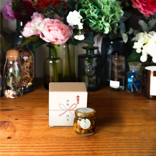 【MYHONEY公式】はちみつ ハチミツ マイハニー ナッツの蜂蜜漬けエトワールM(90g)/ナチュラルクラフトボックス(S)+熨斗 生はちみつ 贈り物 ギフト