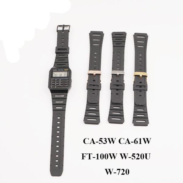 Casio CA-53W CA-61W FT-100W W-520U W-720G 用 時計 互換 バンド 20mm