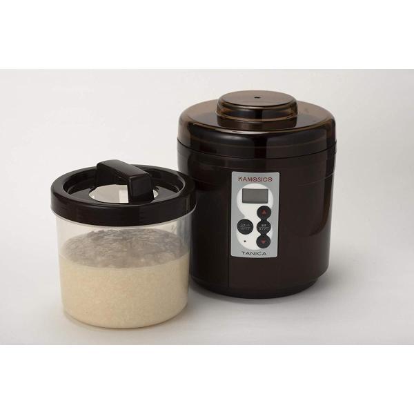 糀屋本店 醸壺 新商品 お求めやすく価格改定 カモシコブラウン レシピ付き と乾燥米糀3個セット タニカ電器