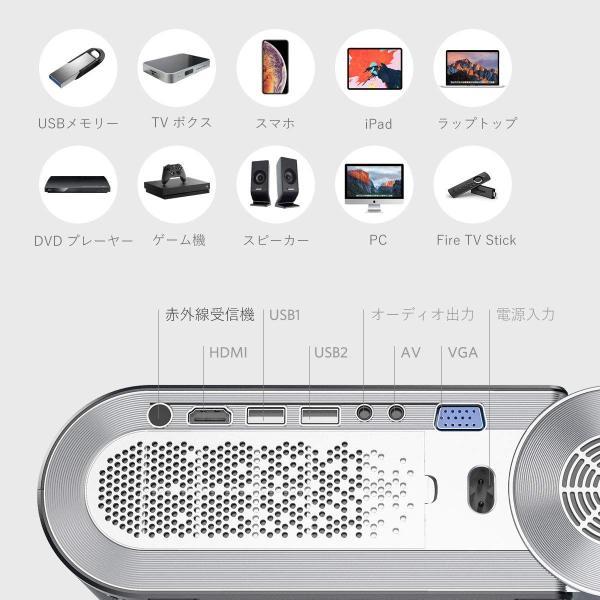 VAMVO 格安 プロジェクター 3200lm 小型 ホームシアター パソコン 最大200インチ大画面 1080PフルHD対応 セール特別価格 スマホ タブレット