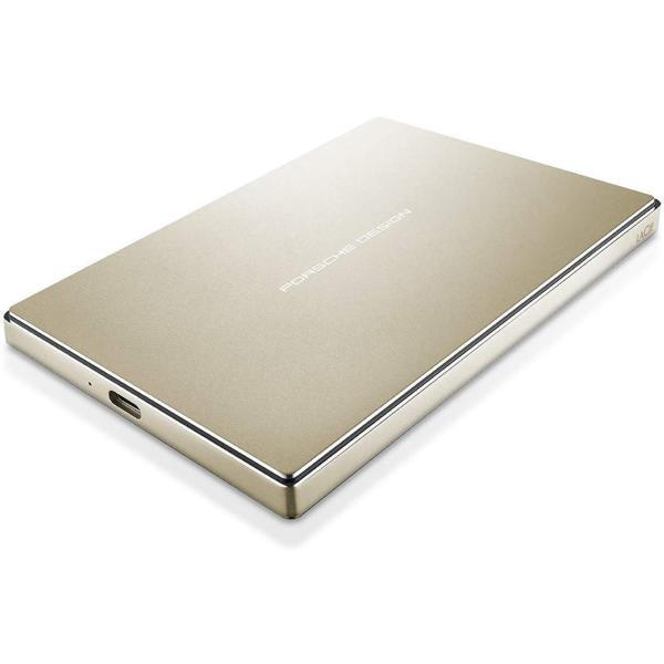 LaCie HDD ポータブルハードディスク 《週末限定タイムセール》 ふるさと割 2TB USB3.0 USBタイプC ゴールド Porsche 2 P'9227 Design