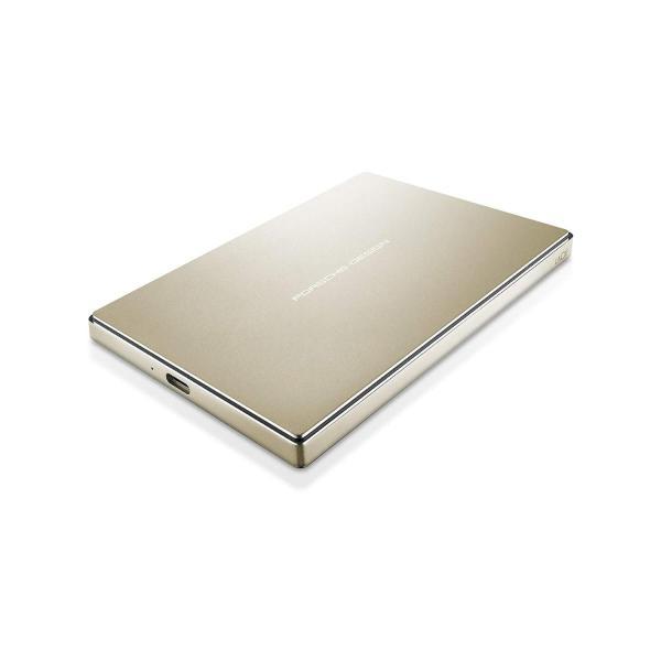 LaCie 激安セール HDD ポータブルハードディスク 2TB USB3.0 USBタイプC ゴールド Porsche P'9227 正規激安 Design 2