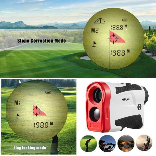BIJIA スロープ補正ゴルフ測定器-USB充電 600M グレードアップ版ゴルフ用 距離計 防水防塵 光学6倍 計測 ゴルフスコープ アウトレット 測定 販売