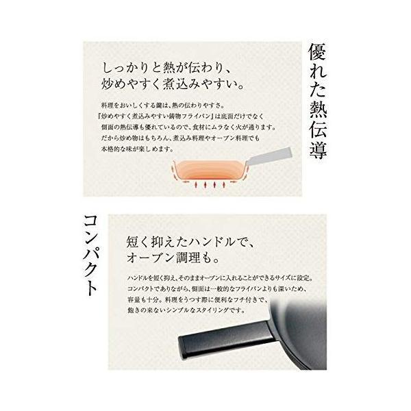 フライングソーサー オリジナル 直営店 炒めやすく煮込みやすい鋳物フライパン 即納送料無料! φ26cm 日本製