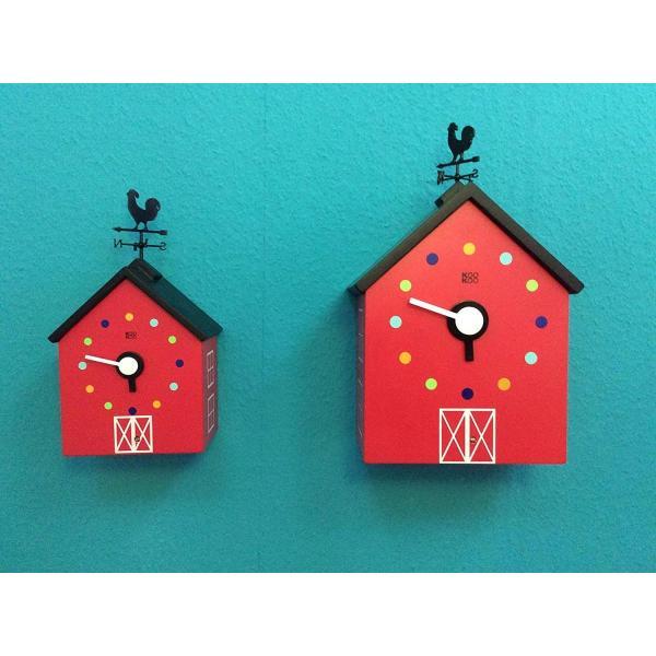 KOOKOO クークー レッドバーン 動物の鳴き声 好評受付中 農場 壁時計 子供 爆売り 風見鶏 デザイン 鳩時計