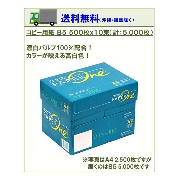 コピー用紙 高品質コピー用紙 B5 500枚×10束(1箱)5000枚 白色度 約95% アカシアパルプ 100% ペーパーワン Copy&Laser後継 ポイント消化|myshop