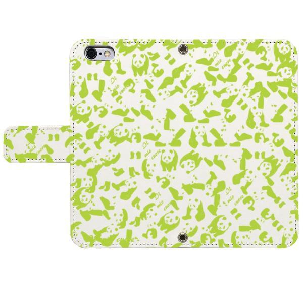 iPhone8 iPhone7 iPhone6/6s iPhone 5/5s/SE アイフォン ケース  手帳 型 大 人気 パンダ panda 迷彩 ライト グリーン|mysma|02