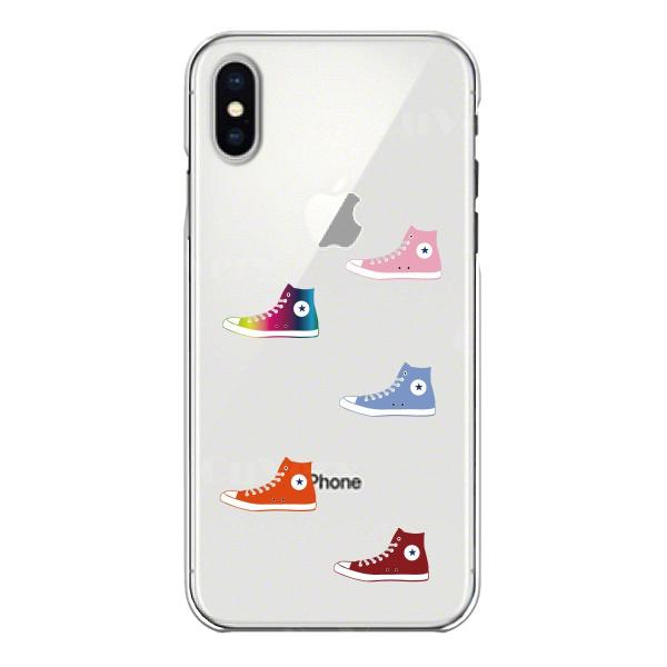 iPhoneXS/X iPhoneXs Max iPhoneXR ワイヤレス充電対応 アイフォン クリア 透明 ケース カバー  スニーカー mysma 03