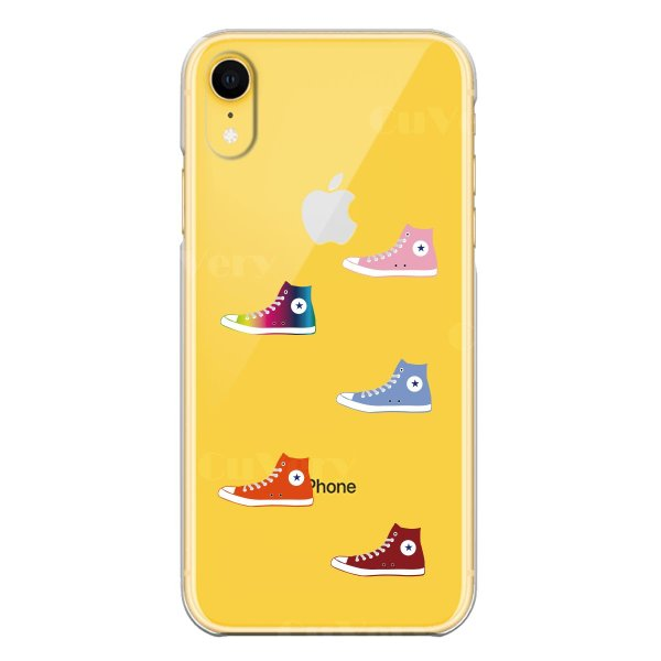 iPhoneXS/X iPhoneXs Max iPhoneXR ワイヤレス充電対応 アイフォン クリア 透明 ケース カバー  スニーカー mysma 07