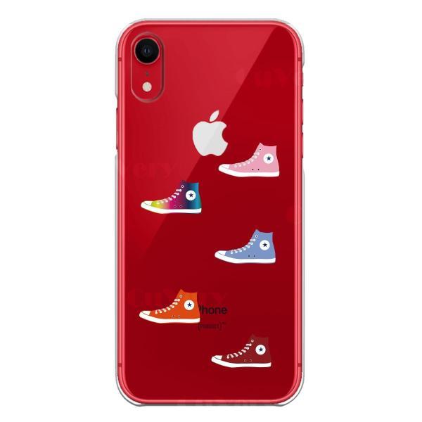iPhoneXS/X iPhoneXs Max iPhoneXR ワイヤレス充電対応 アイフォン クリア 透明 ケース カバー  スニーカー mysma 08
