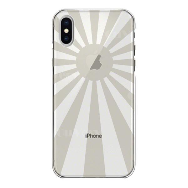 98de5134e5 ... iPhoneXS/X iPhoneXs Max iPhoneXR ワイヤレス充電対応 アイフォン クリア 透明 スマホ ケース 旭日旗 ...