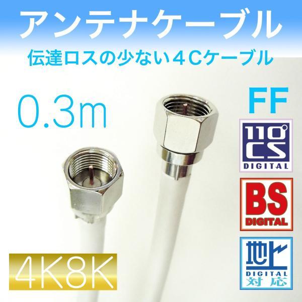 アンテナケーブル 【0.3m】 両端F型接栓付き