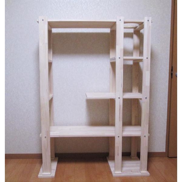 キャットタワー木製にゃんこランドタイプA-IIコンパクト型