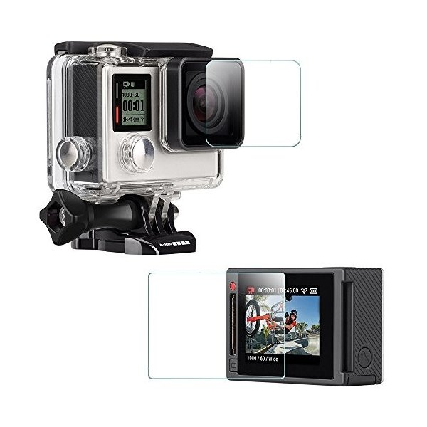 GoPro HERO4 フィルム スクリーン レンズ 液晶 画面 保護 ゴープロ ヒーロー 4 自己吸着式 クリア 透明/ 送料無料|mywaysmart|02