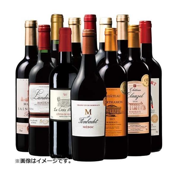 ワイン 赤ワインセット ボルドー 金賞受賞 赤ワインセット12本お楽しみ 送料無料 wine set フランス フルボディ