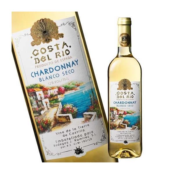 ワイン 白 コスタ・デル・リオ・シャルドネ'18 VdTカスティーリャ 辛口 750ml 白ワイン
