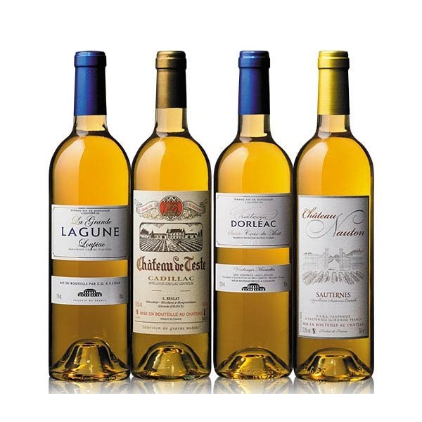 ワインセット ソーテルヌ入り ボルドー貴腐ワイン4アペラシオン飲み比べ4本セット 送料無料 wineset 甘口 ボルドー きふ