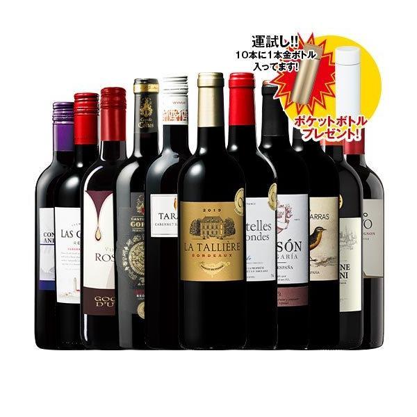 ワインワインセット 特別 ポケットボトルプレゼント3大銘醸地入り世界選りすぐり赤ワイン11本セット第126弾