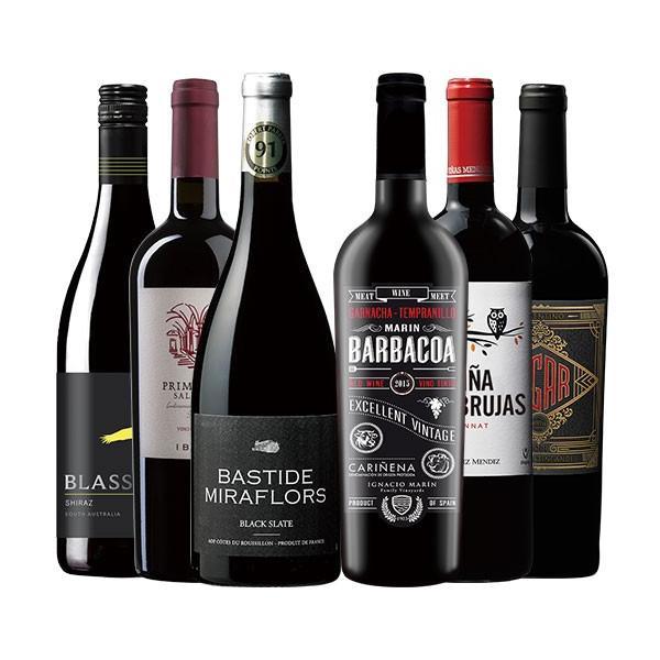 ワイン 赤ワインセット これぞ肉ワイン!フルボディ濃厚赤ワイン6本セット フルボディ 送料無料