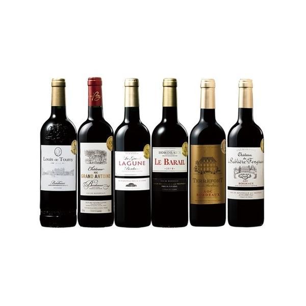 ワイン 赤ワインセット 最新ヴィンテージを堪能!ボルドー2018年金賞赤ワイン6本セット wine set