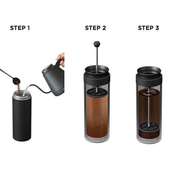 ビタントニオ コーヒープレスボトル コトル ナイト Vitantonio COTTLE VCB-10-N 黒 ブラック アウトドア|n-kitchen|02