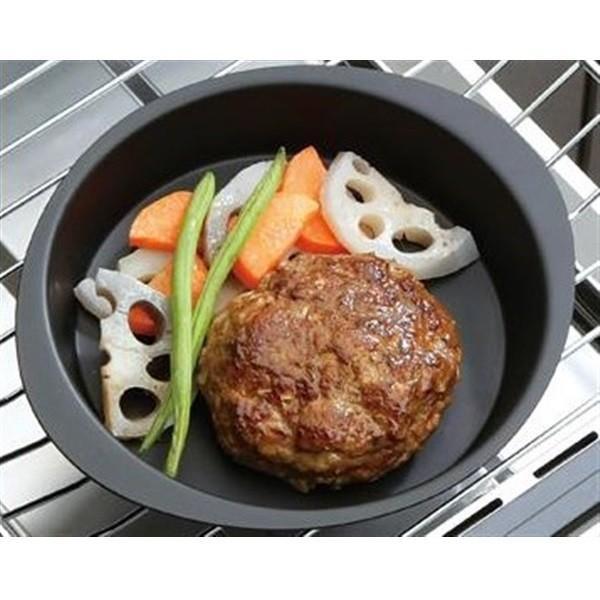 ランチーニ 鉄製 グリル活用ミニ丸型パン 15cm ブラック IH対応 蓋付 魚焼き RA-9279 和平フレイズ|n-kitchen