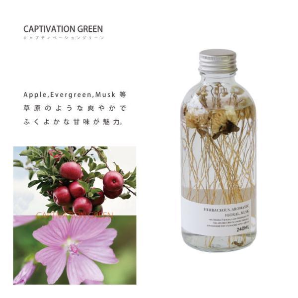 ハーバリウム ディフューザー キャプティベーション グリーン HERBALISM DIFFUSER CAPTIVATION GREEN フレグランスオイル 芳香剤 スティック ガラスボトル