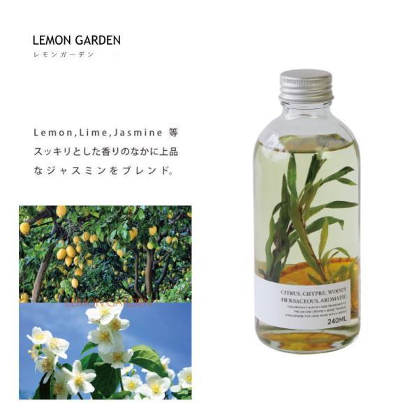 ハーバリウム ディフューザー レモン ガーデン HERBALISM DIFFUSER LEMON GARDEN フレグランスオイル 芳香剤 スティック ガラスボトル