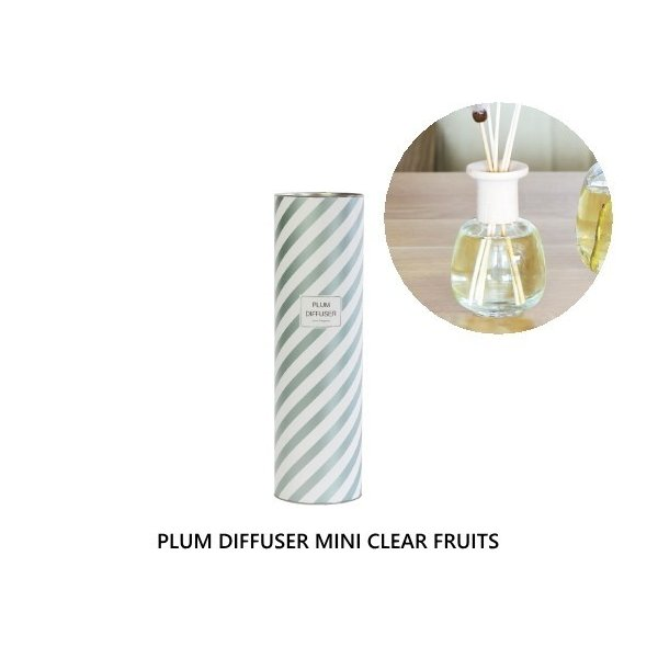 プラム ディフューザー ミニ クリア フルーツ Plum Diffuser Mini CLEAR FRUITS フレグランスオイル 芳香剤 スティック ガラスボトル