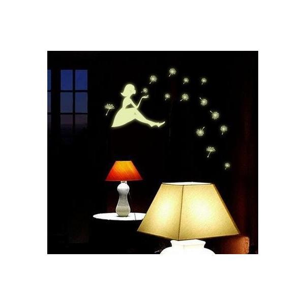ウォールステッカー 光る タンポポのわたげ 女の子 蛍光シール ロマンチックな ナイトグロウ 蓄光 送料無料|n-m|04