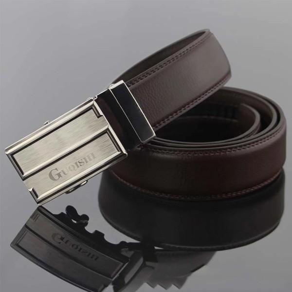 ベルト オートロック スライド式 レザー メンズ 牛革 本革ベルト 紳士 革 ブラック ブラウン メール便のみ送料無料2♪5月20日から31日入荷予定 n-martmens 05