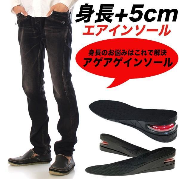 ゆうパケット送料無料 履くだけで身長5cmアップ アゲアゲ エアインソール|n-martmens