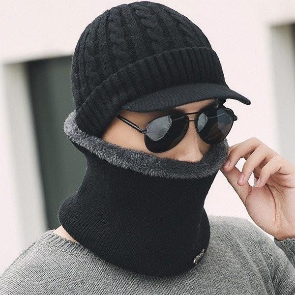 裏起毛ニット帽&スヌードマフラー付き 2点セット マフラー 男女兼用 メンズ ネックウォーマー セール スポーツ  4月10日から20日入荷予定メール便送料無料1|n-martmens|05