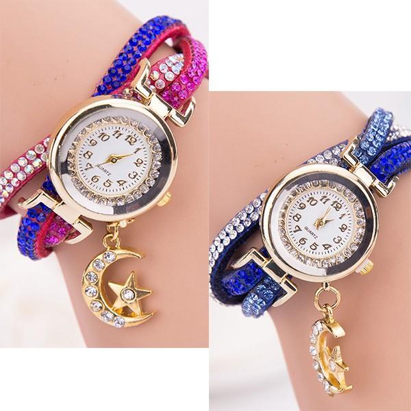 メール便のみ送料無料1 チャーム付きブレスレット腕時計