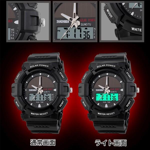 ソーラー防水デジタルウォッチ 学生 腕時計 ユニセックス メール便のみ送料無料2♪5月20日から31日入荷予定|n-martmens|03