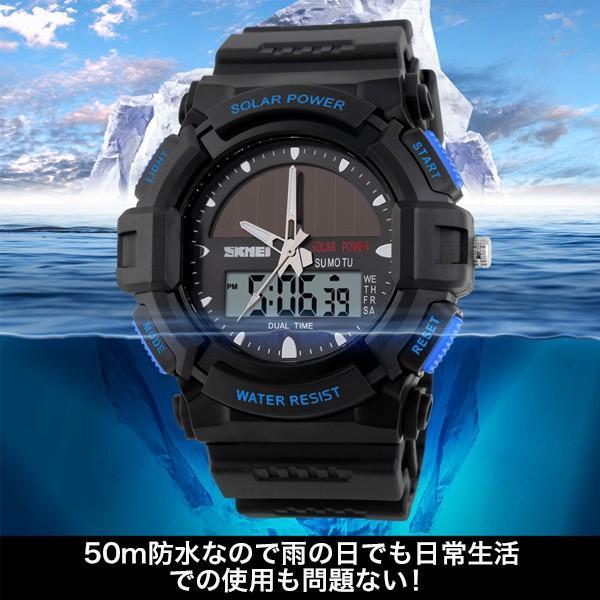 ソーラー防水デジタルウォッチ 学生 腕時計 ユニセックス メール便のみ送料無料2♪5月20日から31日入荷予定|n-martmens|04
