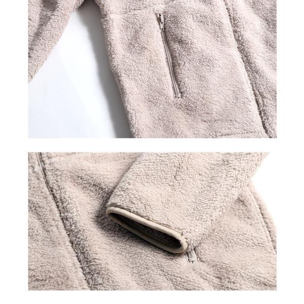 ボアジャケット メンズ ブルゾン フリースジャケット 起毛 防風加工 フルジップ 無地 シンプル もこもこ おしゃれ 宅配便 n-martmens 11