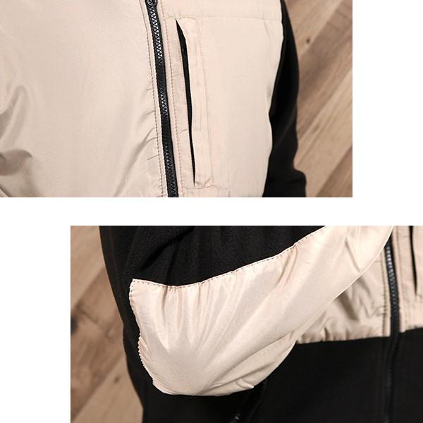 フリース ジャケット メンズ フリースジャケット 切り替え ジップ パーカー スタンドカラー アウトドア スポーツ アスレジャー 宅配便 n-martmens 11