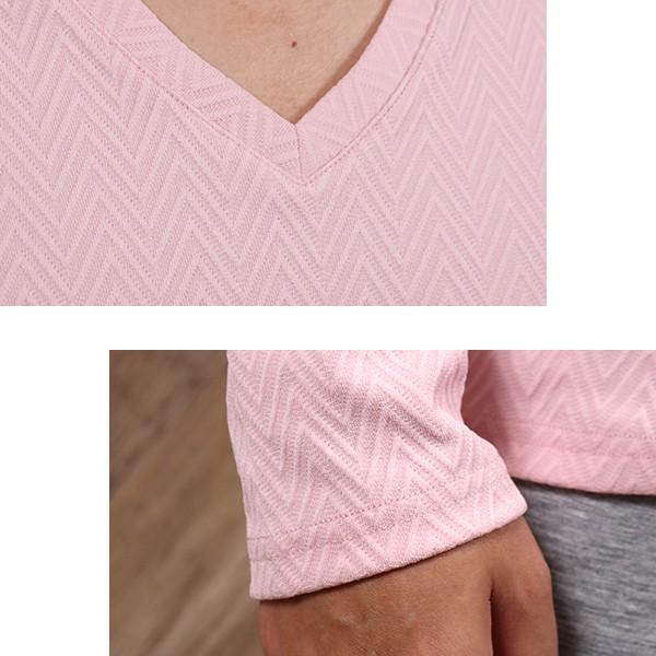 長袖Tシャツ メンズ カットソー 長袖 ロンT 無地 ジャガード おしゃれ きれい目 カジュアル メール便 送料無料|n-martmens|11