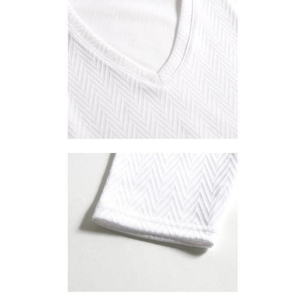 長袖Tシャツ メンズ カットソー 長袖 ロンT 無地 ジャガード おしゃれ きれい目 カジュアル メール便 送料無料|n-martmens|16