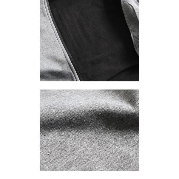 ジップパーカー メンズ ウインドストップ ジップアップパーカー 防風 フリース フルジップ ブラック グレー ネイビー 宅配便 n-martmens 17