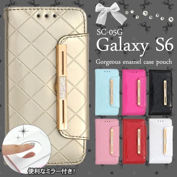 Galaxy S6 SC-05G ケース 手帳型 合皮レザー ギャラクシーS6 スマホカバー|n-style